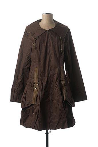 Manteau long marron VIRGINIE & MOI pour femme