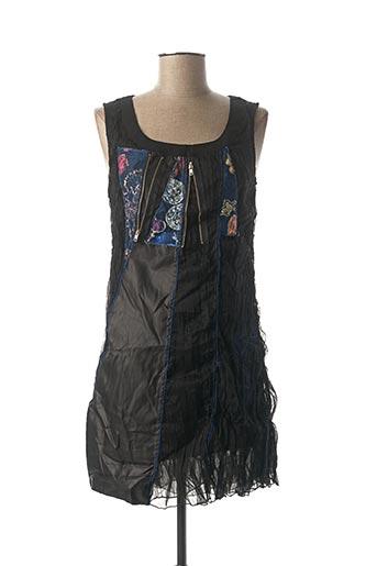 Robe mi-longue noir VIRGINIE & MOI pour femme