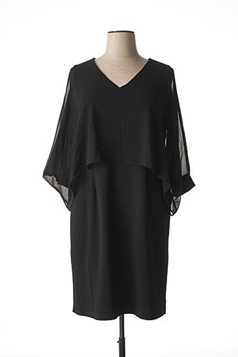 Robe mi-longue noir ELENA MIRO pour femme