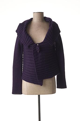 Gilet manches longues violet FILLE DES SABLES pour femme