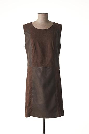 Robe courte marron CHIPIE pour femme