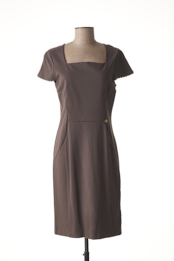 Robe mi-longue marron LIU JO pour femme