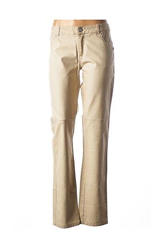 Pantalon casual beige CHIPIE pour femme
