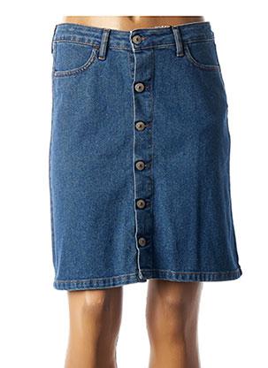 Jupe mi-longue bleu KANOPE pour femme