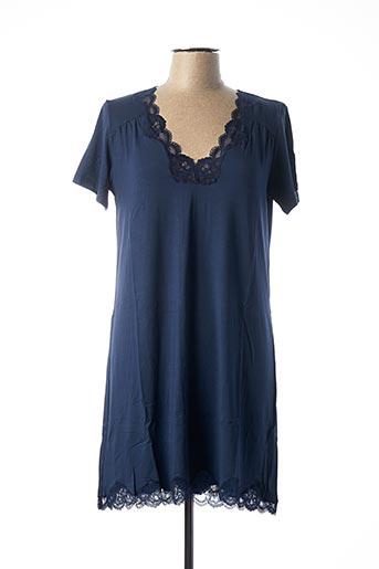 Chemise de nuit bleu ANTIGEL pour femme
