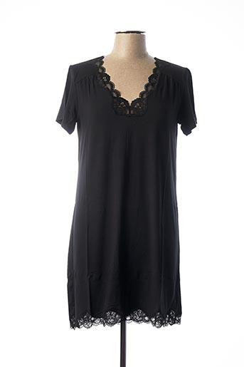 Chemise de nuit noir ANTIGEL pour femme