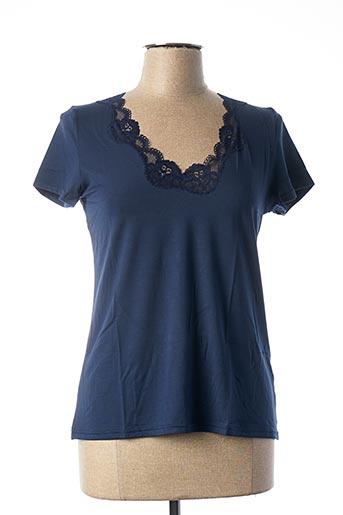 Top/Caraco bleu ANTIGEL pour femme