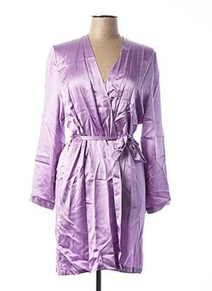 Robe de chambre violet MARJOLAINE pour femme