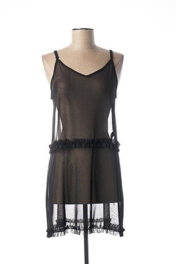 Robe courte noir PIECES pour femme