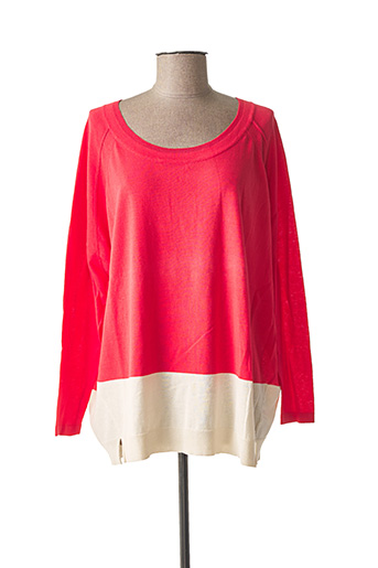 Pull col rond rose SANDWICH pour femme