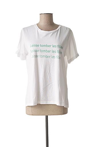 T-shirt manches courtes blanc YUKA pour femme