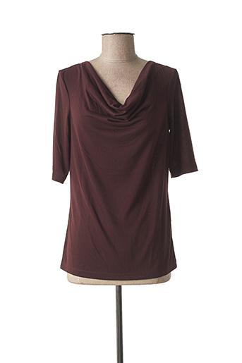 T-shirt manches courtes rouge SANDWICH pour femme
