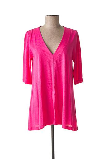 T-shirt manches longues rose SANDWICH pour femme