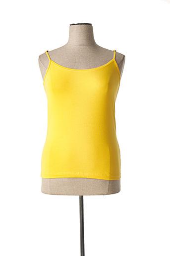 Top jaune SANDWICH pour femme