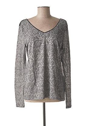 T-shirt manches longues gris ONE STEP pour femme