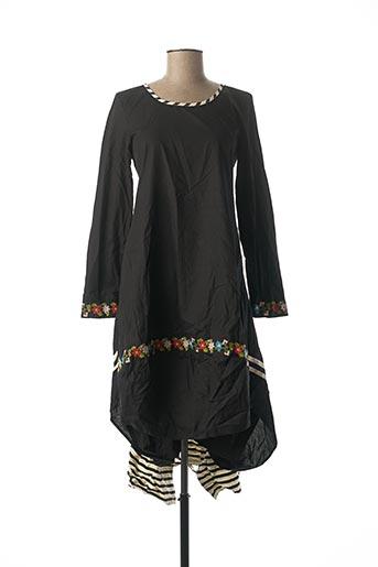 Robe longue noir RHUM RAISIN pour femme