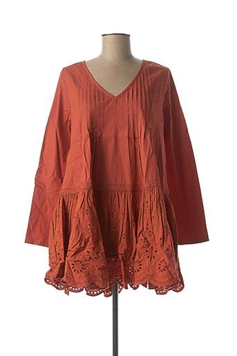 Tunique manches longues orange RHUM RAISIN pour femme