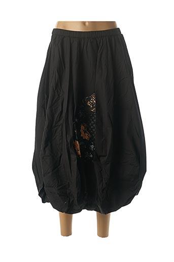 Jupe mi-longue noir RHUM RAISIN pour femme