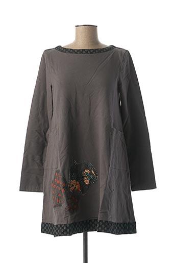 Robe courte gris RHUM RAISIN pour femme