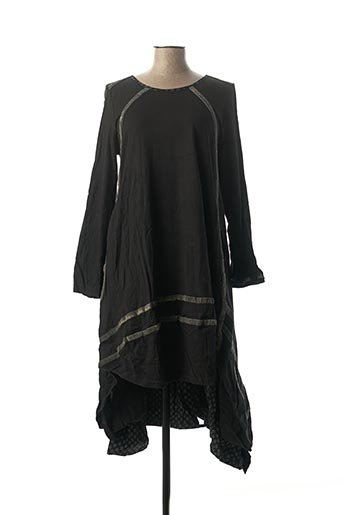 Robe mi-longue noir RHUM RAISIN pour femme