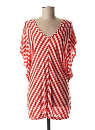 Tunique manches courtes rouge SUMMUM pour femme