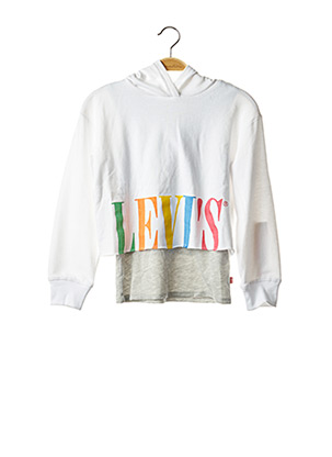 Sweat-shirt blanc LEVIS pour fille
