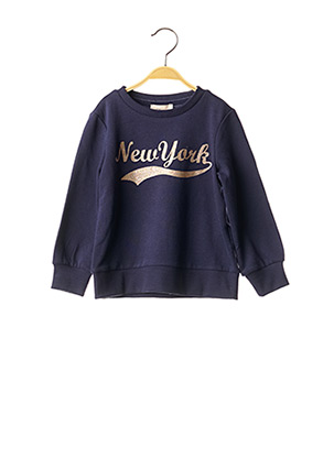 Pull col rond bleu ONLY pour fille