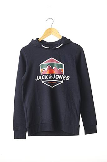 Sweat-shirt bleu JACK & JONES pour garçon