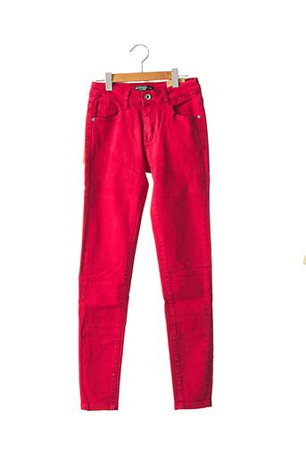 Pantalon casual rouge MINI MIGNON pour garçon