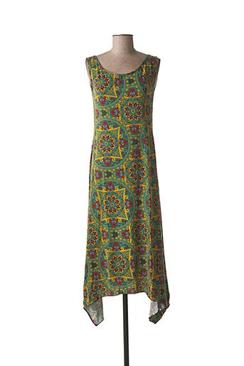 Robe mi-longue vert DIPAWALI pour femme
