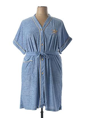 Robe de chambre bleu RAISON D'ETRE pour femme