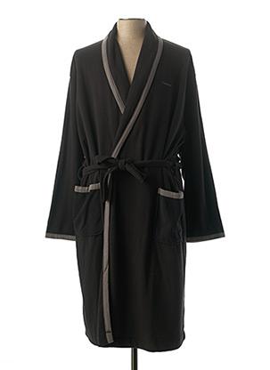Robe de chambre noir MASSANA pour homme