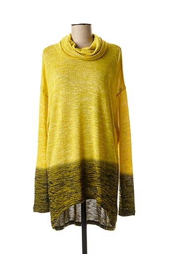 Pull tunique jaune JENSEN pour femme