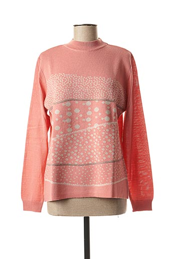 Pull col cheminée orange THE STYLE pour femme
