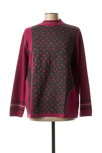 Pull col cheminée rose THE STYLE pour femme