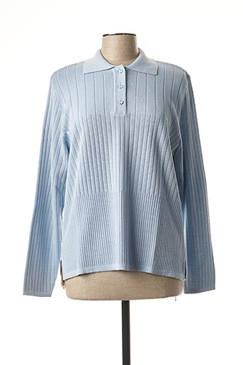 Pull col chemisier bleu THE STYLE pour femme