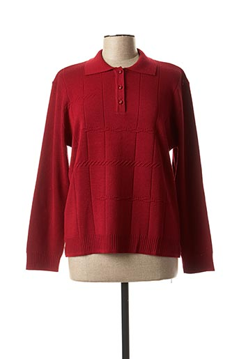 Pull col chemisier rouge THE STYLE pour femme