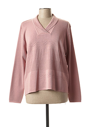 Pull col châle rose THE STYLE pour femme