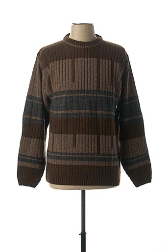 Pull col rond marron CHAIRMAN pour homme
