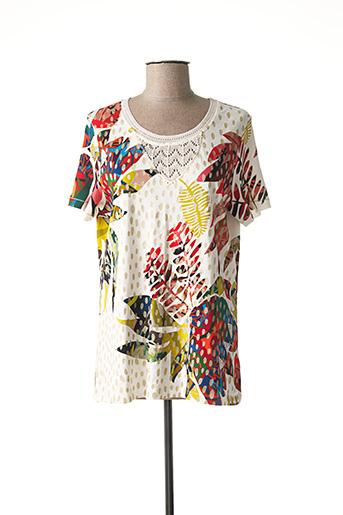 T-shirt manches courtes beige BAGORAZ pour femme