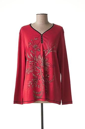 T-shirt manches longues rouge BAGORAZ pour femme