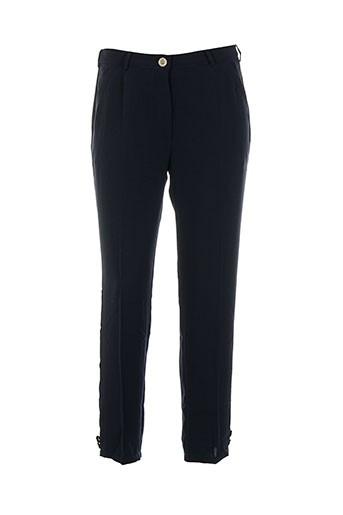 Pantalon chic bleu COLEEN BOW pour femme