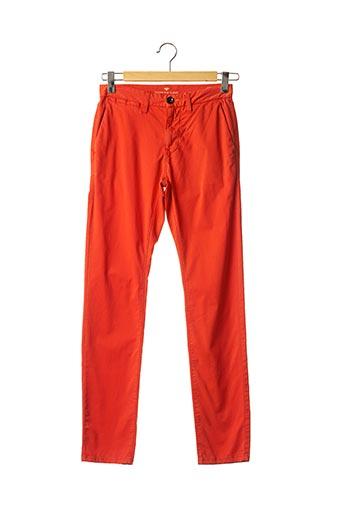 Pantalon casual orange TOM TAILOR pour homme