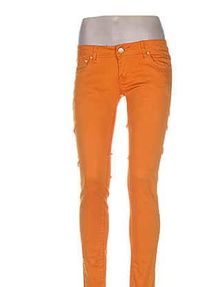 Pantalon casual orange EVADOR'S pour femme