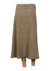 Jupe mi-longue marron CHRISTIAN MARRY pour femme seconde vue