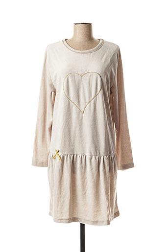 Chemise de nuit beige ARY & BELLE pour femme