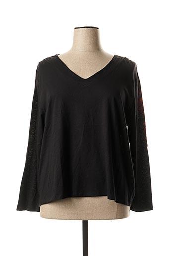 T-shirt manches longues noir MELLEM pour femme