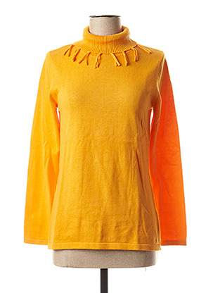 Pull col roulé orange MARBLE pour femme