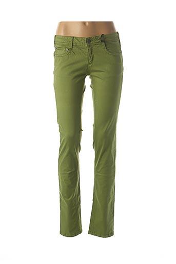 Jeans coupe slim vert CIMARRON pour femme