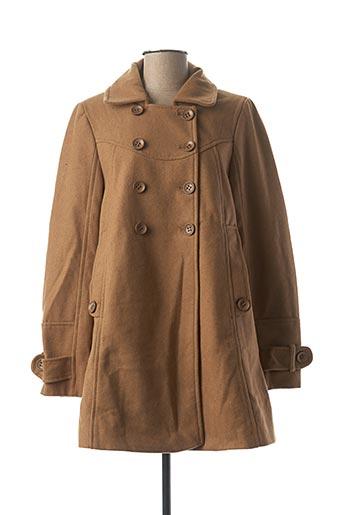 Manteau long beige 2 TWO pour femme